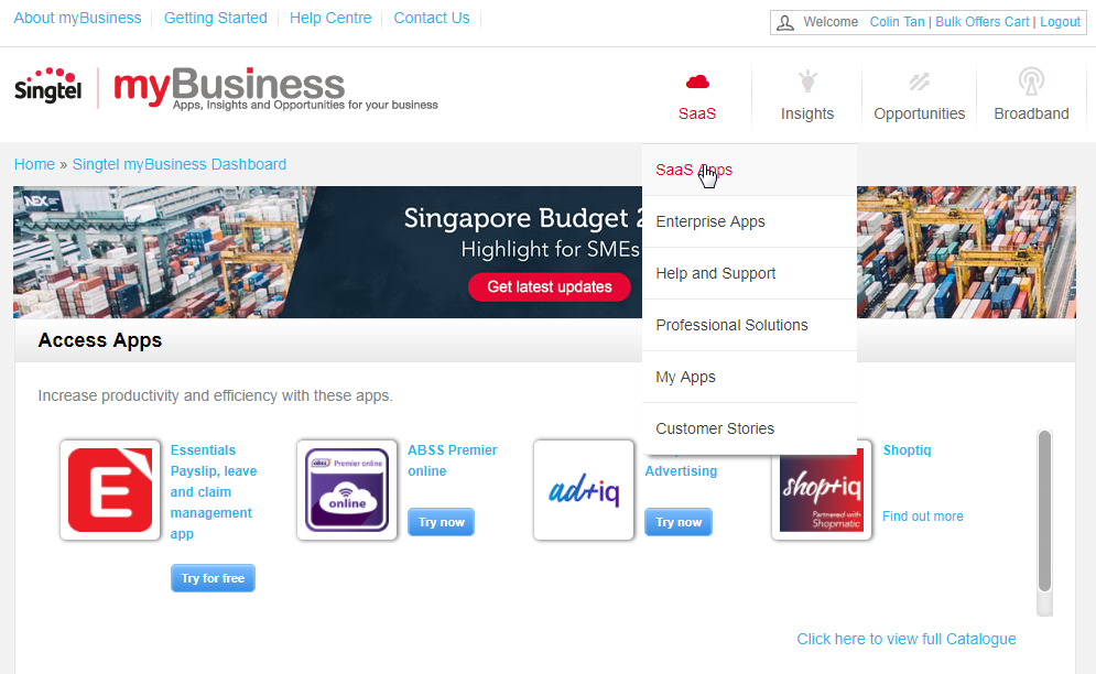 Try apps from catalogue | myBusiness Network